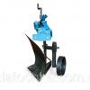 Плуг активный с опорным колесом AGROLUXE (к мотоблокам 1100,105,135) (захват 200мм, глубина до 250 мм) (БУЛАТ) 2296