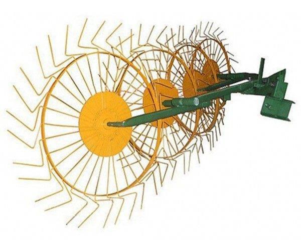Грабли-ворошилки Солнышко 4-х колесные толшина проволки 5мм (КЕНТАВР)