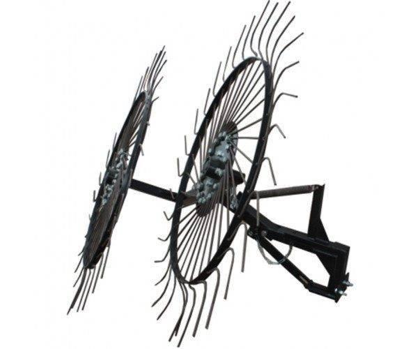 Грабли-ворошилки Солнышко 2-х колесные. подходит к мотоблокам. 120см (ПОЛТАВА)