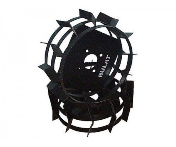 Колеса с грунтозацепами Ø 380мм (квадрат 10х10, высота зацепа 40мм, ширина 155мм, вес 10кг/п (БУЛАТ)