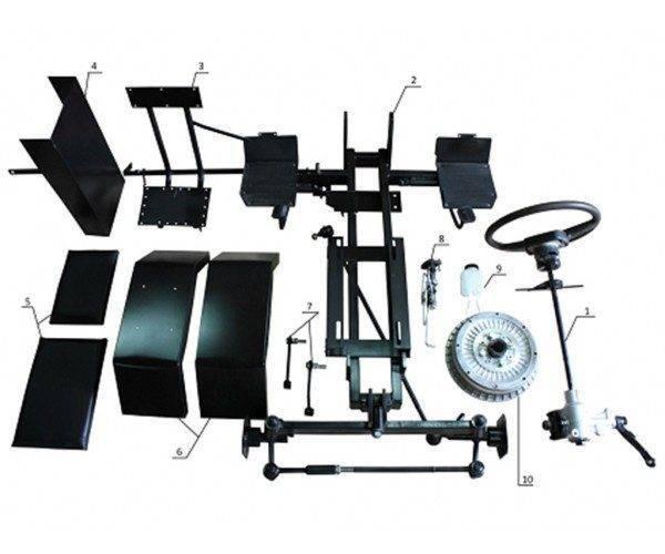 Комплект №3 Набор для переделки мотоблока в трактор с возможностью установки АКТИВНОЙ ФРЕЗЫ (ПОЛТАВА)
