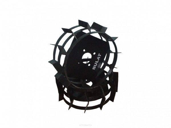 Колеса с грунтозацепами Ø 450мм (квадрат 10х10, высота зацепа 40мм,  ширина 160мм, вес 11кг/ (БУЛАТ)