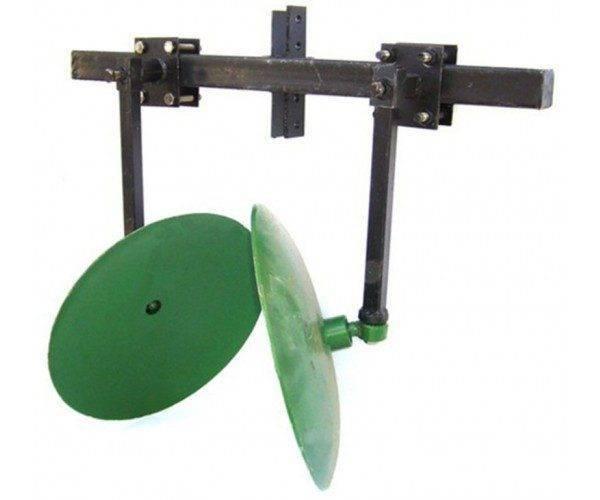 Окучник дисковый Ø 410мм регулируемый на 2-ой сцепке. захват 400-800мм. (БУЛАТ)
