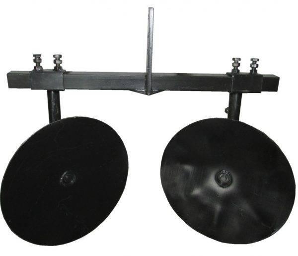 Дисковый окучник регулируемый Ø 360 мм. универсальный. +двойная сцепка. (Полтава)