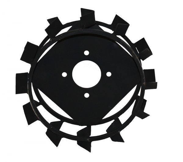 Колеса с грунтозацепами Ø 450мм (профильная труба 15х15, высота зацепа 40мм, ширина 160мм, (БУЛАТ)