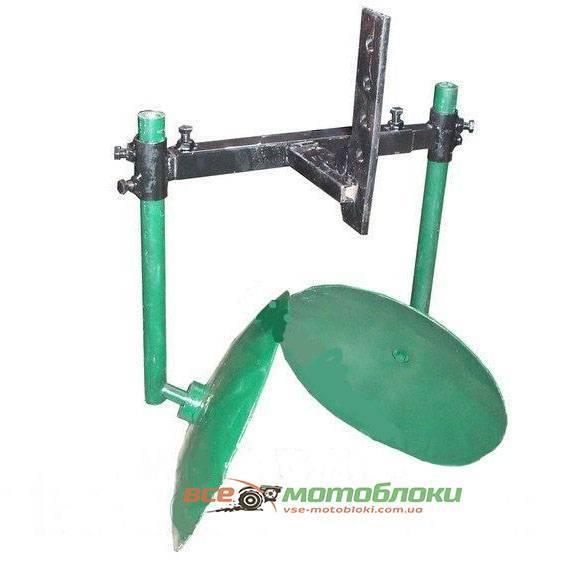 Дисковый окучник Ø 350 мм на подшипниках для мотоблокаю.захват 350-600 мм (БУЛАТ)