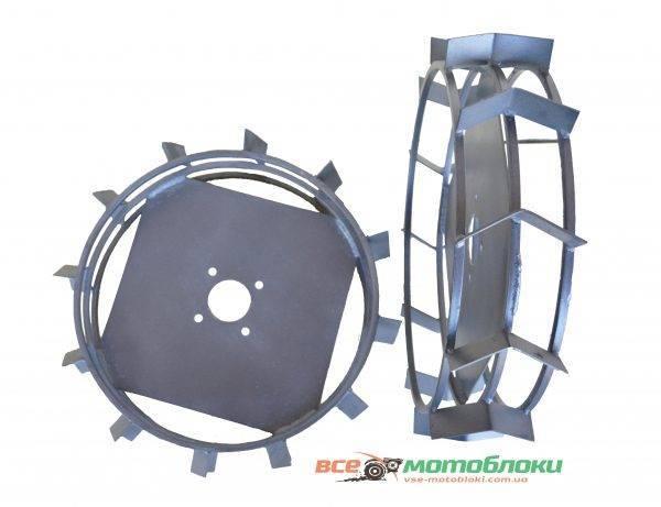 Колеса с грунтозацепами - Ø 650/150 мм (МКЗ) (пара)