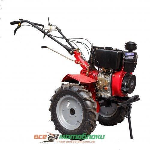 Мотоблок Форте (FORTE) 1350E - дизель (Красный)