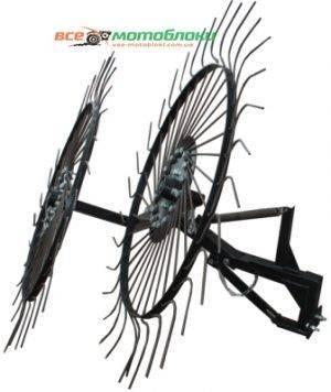 Грабли-ворошилки Солнышко 2-х колесные - 120 см