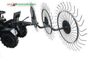 Грабли-ворошилки Солнышко 3-х колесные - 180 см