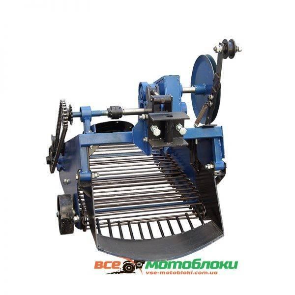 Картофелекопатель транспортерный вибрационный под мототрактор с гидравликой
