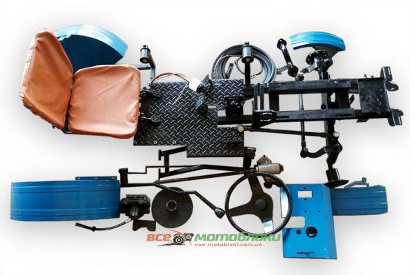 КИТ набор для переоборудования (EXPERT-2) мотоблока в мототрактор, вес=115кг, усиленная балка с регулировкой ширины колеи,усиленная рама из профильной цельнотянутой трубы,дисковые тормоза, универсальная ступица, задний мост не переворачивается, анало