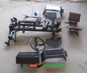 КИТ набор для переоборудования  мотоблока в мототрактор (Премиум — 3)