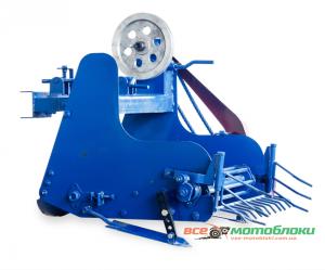 Картофелекопатель механизированный КМ-6 для тяжелых мотоблоков и мототракторов, привод слева