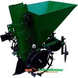 Картофелесажатель мотоблочный П-1Ц (зеленый)