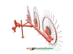 Грабли-ворошилки Солнышко 3-х колесные (1Т) - 150 см
