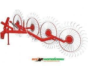 Грабли колесно-пальцевые «Солнышко» 4 усиленная