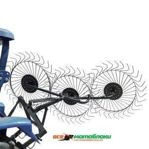 Грабли-ворошилки Солнышко 3-х колесные (3Т) - 180 см