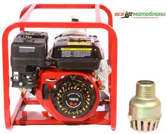 Мотопомпа Бензиновая Weima WMPW80-26 (Для грязной воды, Патрубок 8 см, 78 куб/час)