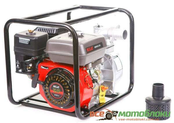 Мотопомпа Бензиновая BULAT BW50/30 (Патрубок 5 см, 36 куб/час)