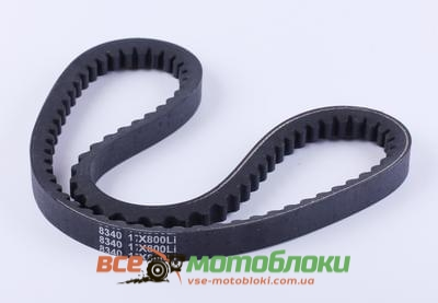 Ремень 17*800 зубчатый (L-420mm*2) - 168F
